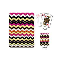 Colorful Chevron Pattern Stripes Playing Cards (mini)