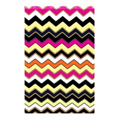 Colorful Chevron Pattern Stripes Shower Curtain 48  x 72  (Small)