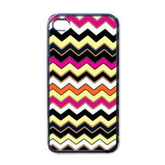 Colorful Chevron Pattern Stripes Apple Iphone 4 Case (black)