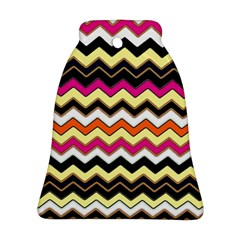 Colorful Chevron Pattern Stripes Bell Ornament (two Sides)