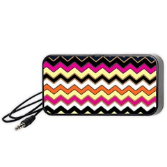 Colorful Chevron Pattern Stripes Portable Speaker (Black)