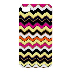 Colorful Chevron Pattern Stripes Apple Iphone 4/4s Hardshell Case
