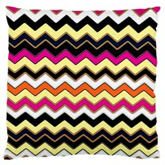 Colorful Chevron Pattern Stripes Large Cushion Case (two Sides)
