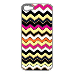 Colorful Chevron Pattern Stripes Apple Iphone 5 Case (silver)