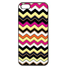 Colorful Chevron Pattern Stripes Apple Iphone 5 Seamless Case (black)