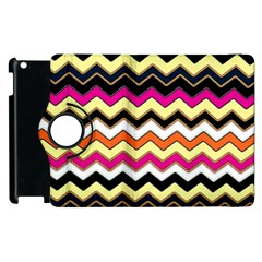 Colorful Chevron Pattern Stripes Apple Ipad 3/4 Flip 360 Case