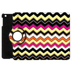 Colorful Chevron Pattern Stripes Apple Ipad Mini Flip 360 Case