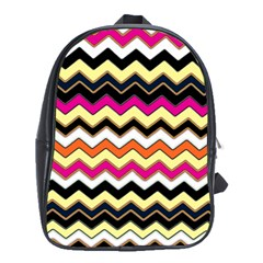 Colorful Chevron Pattern Stripes School Bags (xl)