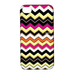Colorful Chevron Pattern Stripes Apple Iphone 4/4s Hardshell Case With Stand