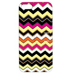 Colorful Chevron Pattern Stripes Apple Iphone 5 Hardshell Case With Stand