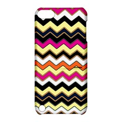 Colorful Chevron Pattern Stripes Apple iPod Touch 5 Hardshell Case with Stand
