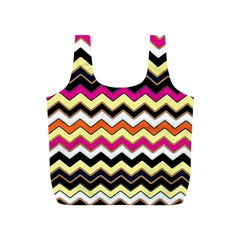 Colorful Chevron Pattern Stripes Full Print Recycle Bags (s)