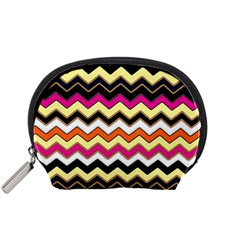 Colorful Chevron Pattern Stripes Accessory Pouches (small)