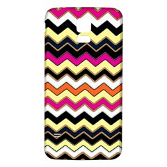 Colorful Chevron Pattern Stripes Samsung Galaxy S5 Back Case (white)