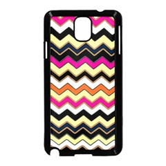 Colorful Chevron Pattern Stripes Samsung Galaxy Note 3 Neo Hardshell Case (black)