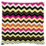 Colorful Chevron Pattern Stripes Large Flano Cushion Case (Two Sides) Front