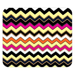 Colorful Chevron Pattern Stripes Double Sided Flano Blanket (small)