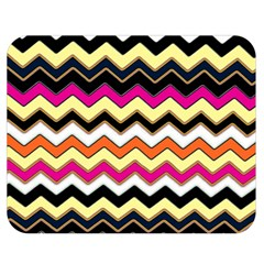 Colorful Chevron Pattern Stripes Double Sided Flano Blanket (medium)