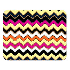Colorful Chevron Pattern Stripes Double Sided Flano Blanket (large)
