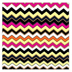 Colorful Chevron Pattern Stripes Large Satin Scarf (square)