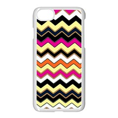 Colorful Chevron Pattern Stripes Apple Iphone 7 Seamless Case (white)
