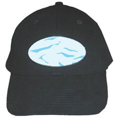 Blue Tiger Animal Pattern Digital Black Cap