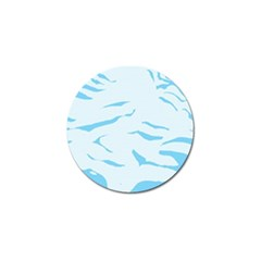 Blue Tiger Animal Pattern Digital Golf Ball Marker (10 Pack)