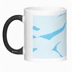 Blue Tiger Animal Pattern Digital Morph Mugs
