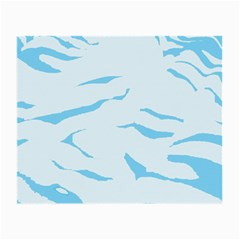 Blue Tiger Animal Pattern Digital Small Glasses Cloth