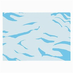 Blue Tiger Animal Pattern Digital Large Glasses Cloth (2 Side)