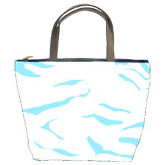 Blue Tiger Animal Pattern Digital Bucket Bags