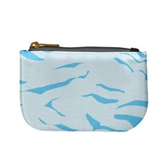 Blue Tiger Animal Pattern Digital Mini Coin Purses