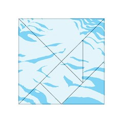 Blue Tiger Animal Pattern Digital Acrylic Tangram Puzzle (4  X 4 )