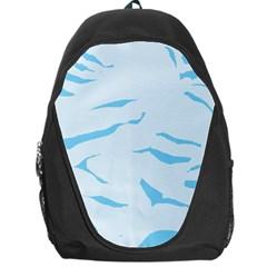 Blue Tiger Animal Pattern Digital Backpack Bag