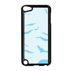 Blue Tiger Animal Pattern Digital Apple Ipod Touch 5 Case (black)