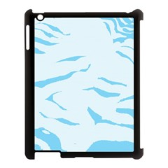 Blue Tiger Animal Pattern Digital Apple Ipad 3/4 Case (black)
