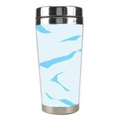 Blue Tiger Animal Pattern Digital Stainless Steel Travel Tumblers