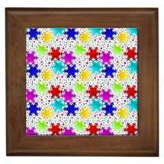 Snowflake Pattern Repeated Framed Tiles
