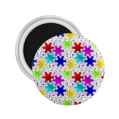 Snowflake Pattern Repeated 2.25  Magnets