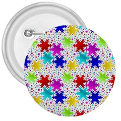 Snowflake Pattern Repeated 3  Buttons