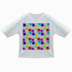 Snowflake Pattern Repeated Infant/toddler T Shirts
