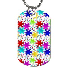 Snowflake Pattern Repeated Dog Tag (one Side)