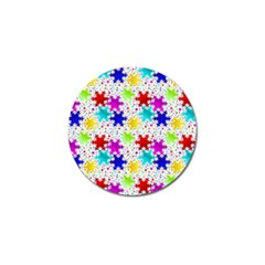 Snowflake Pattern Repeated Golf Ball Marker (10 Pack)