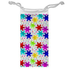 Snowflake Pattern Repeated Jewelry Bag