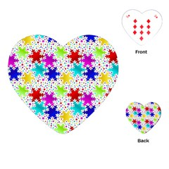 Snowflake Pattern Repeated Playing Cards (heart)