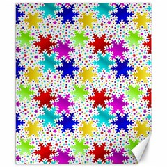 Snowflake Pattern Repeated Canvas 8  X 10