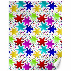 Snowflake Pattern Repeated Canvas 12  X 16