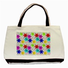 Snowflake Pattern Repeated Basic Tote Bag (two Sides)