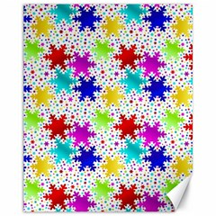 Snowflake Pattern Repeated Canvas 11  X 14