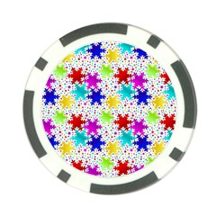 Snowflake Pattern Repeated Poker Chip Card Guard